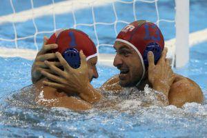 Tempesti e Del Lungo esultano insieme dopo il bronzo olimpico a Rio 2016