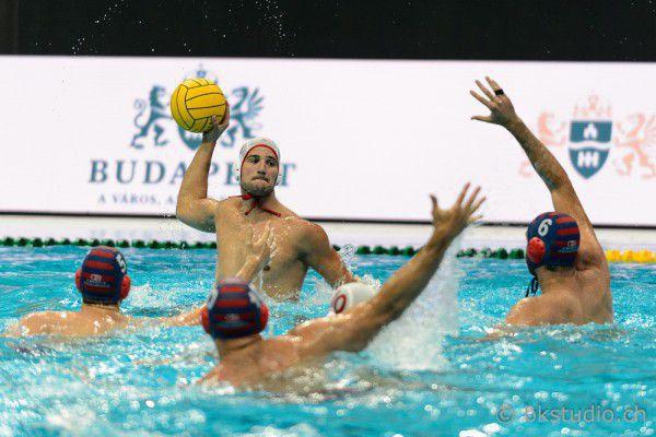 Mladjan Janovic in azione con l'Olympiacos durante la Final Six di Budapest (foto BkStudio)