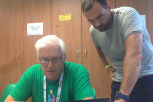 Yiannis Giannouris, direttore del torneo, e Mino Di Cecca