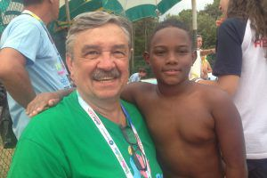 Rudic and Caua, little Brazilian waterpolo player of Abda Bauru