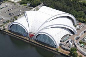 Il Tatsumi Waterpolo Centre, sede dei tornei di pallanuoto alle Olimpiadi di Tokyo